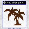 Palm Trees Decal Sticker D16 Brown Vinyl 120x120