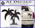 Palm Trees Decal Sticker D16 Carbon Fiber Black 120x97