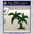 Palm Trees Decal Sticker D16 Dark Green Vinyl 120x120
