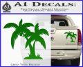 Palm Trees Decal Sticker D16 Green Vinyl 120x97