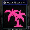 Palm Trees Decal Sticker D16 Hot Pink Vinyl 120x120