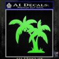 Palm Trees Decal Sticker D16 Lime Green Vinyl 120x120