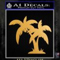Palm Trees Decal Sticker D16 Metallic Gold Vinyl Vinyl 120x120