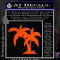 Palm Trees Decal Sticker D16 Orange Vinyl Emblem 120x120