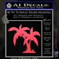 Palm Trees Decal Sticker D16 Pink Vinyl Emblem 120x120