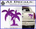 Palm Trees Decal Sticker D16 Purple Vinyl 120x97
