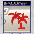 Palm Trees Decal Sticker D16 Red Vinyl 120x120
