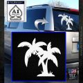Palm Trees Decal Sticker D16 White Emblem 120x120