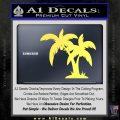Palm Trees Decal Sticker D16 Yelllow Vinyl 120x120