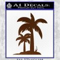 Palm Trees Decal Sticker D17 Brown Vinyl 120x120