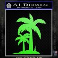 Palm Trees Decal Sticker D17 Lime Green Vinyl 120x120