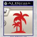 Palm Trees Decal Sticker D17 Red Vinyl 120x120