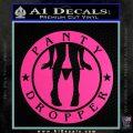 Panty Dropper Decal Sticker Emblem Hot Pink Vinyl 120x120