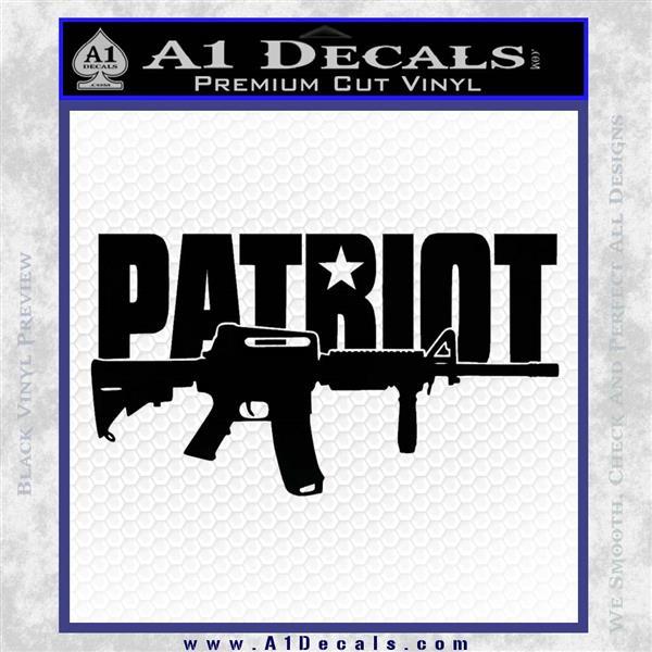 Patriot AR 15 Decal Sticker DW Black Logo Emblem
