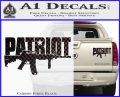 Patriot AR 15 Decal Sticker DW Carbon Fiber Black 120x97