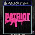 Patriot AR 15 Decal Sticker DW Hot Pink Vinyl 120x120