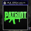 Patriot AR 15 Decal Sticker DW Lime Green Vinyl 120x120