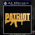 Patriot AR 15 Decal Sticker DW Metallic Gold Vinyl Vinyl 120x120