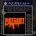 Patriot AR 15 Decal Sticker DW Orange Vinyl Emblem 120x120