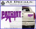 Patriot AR 15 Decal Sticker DW Purple Vinyl 120x97