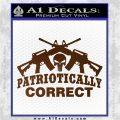 Patriotically Correct AR 15s Decal Sticker Brown Vinyl 120x120