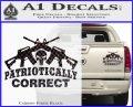 Patriotically Correct AR 15s Decal Sticker Carbon Fiber Black 120x97
