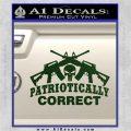 Patriotically Correct AR 15s Decal Sticker Dark Green Vinyl 120x120