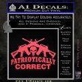 Patriotically Correct AR 15s Decal Sticker Pink Vinyl Emblem 120x120