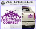Patriotically Correct AR 15s Decal Sticker Purple Vinyl 120x97