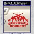 Patriotically Correct AR 15s Decal Sticker Red Vinyl 120x120