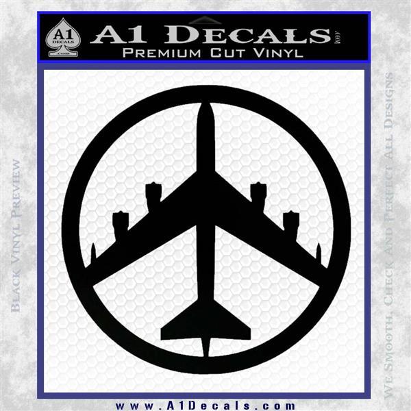 Peace Bomber B 52 Decal Sticker Black Logo Emblem