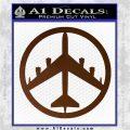 Peace Bomber B 52 Decal Sticker Brown Vinyl 120x120