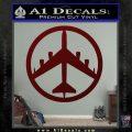 Peace Bomber B 52 Decal Sticker Dark Red Vinyl 120x120