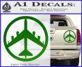 Peace Bomber B 52 Decal Sticker Green Vinyl 120x97