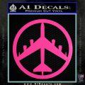 Peace Bomber B 52 Decal Sticker Hot Pink Vinyl 120x120