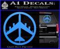 Peace Bomber B 52 Decal Sticker Light Blue Vinyl 120x97
