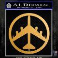 Peace Bomber B 52 Decal Sticker Metallic Gold Vinyl Vinyl 120x120
