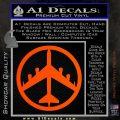 Peace Bomber B 52 Decal Sticker Orange Vinyl Emblem 120x120