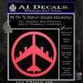 Peace Bomber B 52 Decal Sticker Pink Vinyl Emblem 120x120