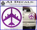 Peace Bomber B 52 Decal Sticker Purple Vinyl 120x97