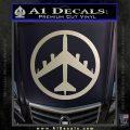 Peace Bomber B 52 Decal Sticker Silver Vinyl 120x120
