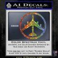 Peace Bomber B 52 Decal Sticker Sparkle Glitter Vinyl 120x120