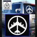 Peace Bomber B 52 Decal Sticker White Emblem 120x120