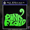 Pink Floyd T1 Decal Sticker Lime Green Vinyl 120x120