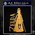 Princess Zelda TXT Decal Sticker DZA Metallic Gold Vinyl Vinyl 120x120