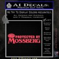 Protected By Mossberg Decal Sticker Pink Vinyl Emblem 120x120