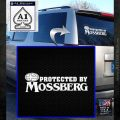 Protected By Mossberg Decal Sticker White Emblem 120x120