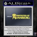 Protected By Mossberg Decal Sticker Yelllow Vinyl 120x120