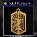 Prydonian DW Decal Sticker Doctor Who Mashup Metallic Gold Vinyl Vinyl 120x120