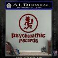 Psychopathic Records Decal Sticker ICP Dark Red Vinyl 120x120
